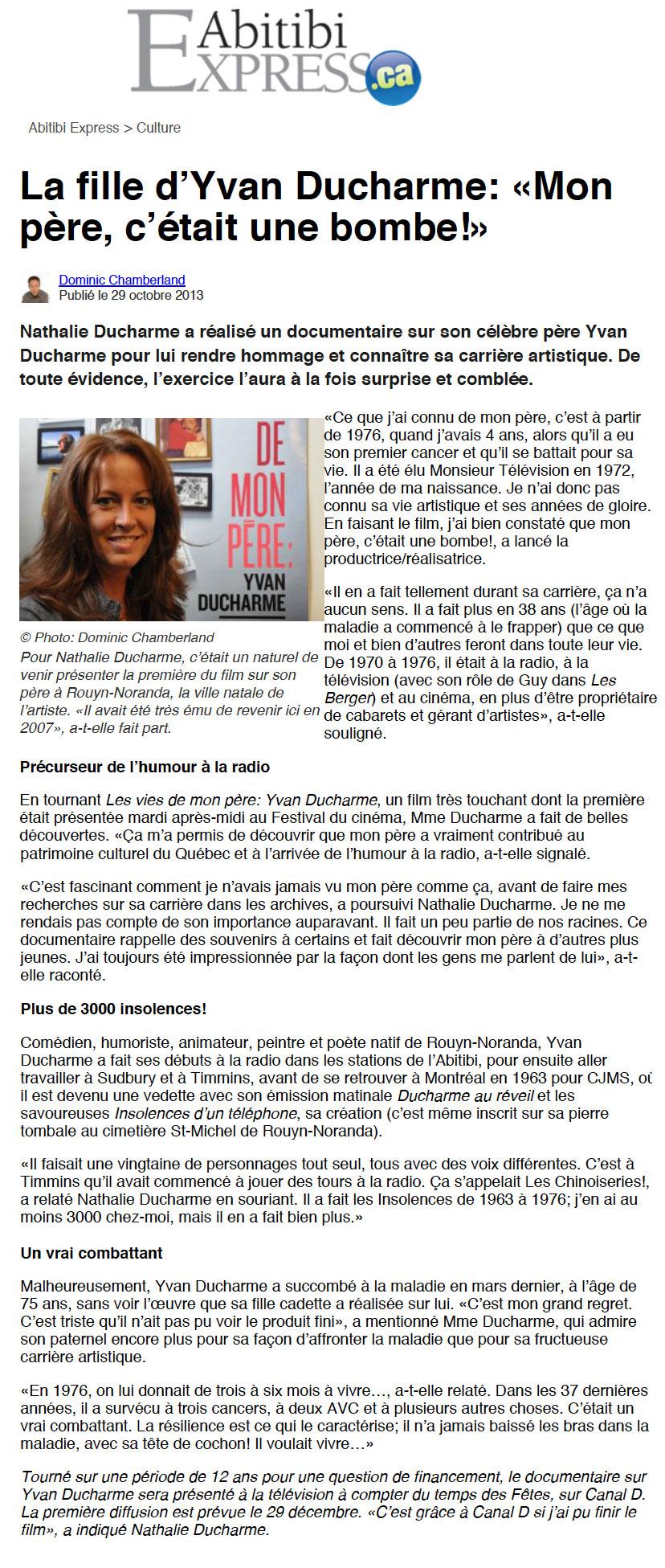 Nathalie_Ducharme-nathalie-ducharme-Réalisatrice-Québécoise-Scénariste-Productrice-réalisateur-québec-canadian_director-filmmaker-cinéaste-documentary-documentaire-film-fiction-award-winner-yvan-ducharme-culture-choc-shock-qui_fait_quoi-qfq-article_de_presse-média-insolences-téléphone-cjms-abitibi-rouyn-noranda-témiscamingue-festival-international-film-ficat-documentaire-artiste-québécois-icone